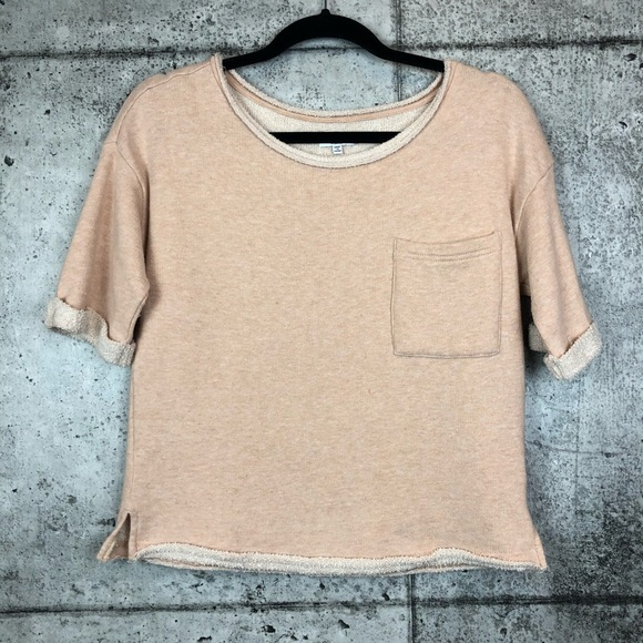 Splendid Tops - Splendid // Short Sleeve French Terry Sweatshirt